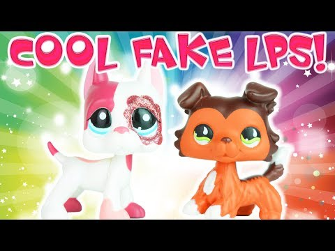 BEST FAKE LPS EVER! Pink Sparkle Great Dane & Savannah Reed As A Collie! | MLP Fever