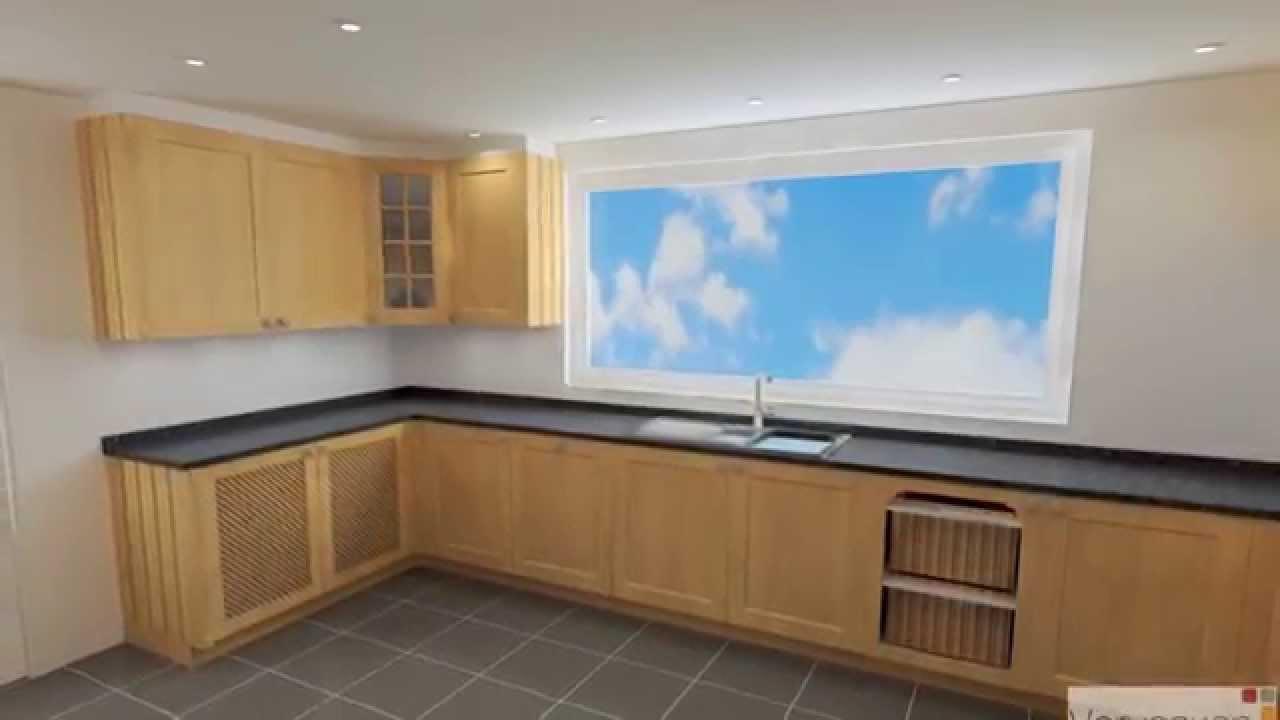 Keukenkastjes Verven Fineer.Keuken Uit Massieve Eik En Fineer Youtube