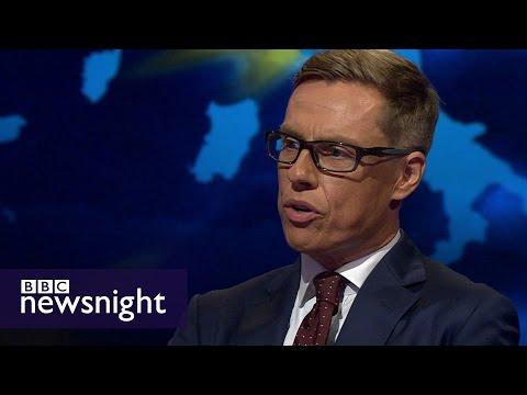 Brexit: Daniel Hannan v Alexander Stubb - BBC Newsnight