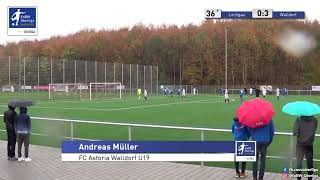 A-Junioren:  0:3 - FV Löchgau - FC Astoria Walldorf - Andreas Müller
