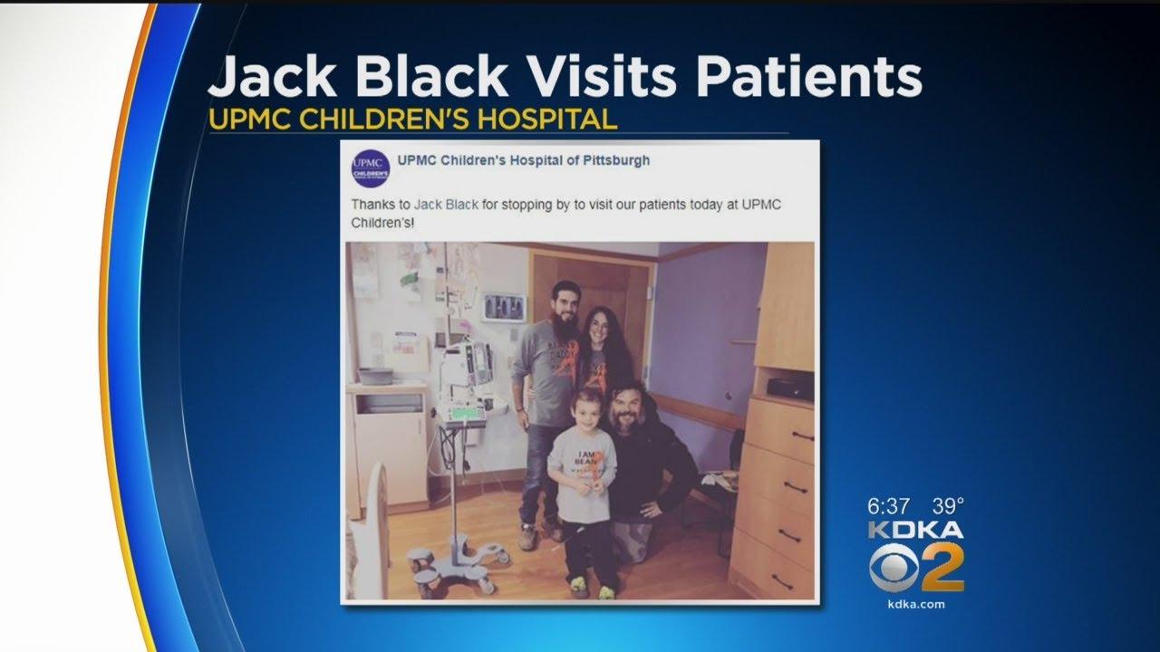 Actor & Musician Jack Black Visits Children's Hospital Patients