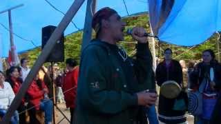 JIm Pictou at the Rexton Blockade Oct0713