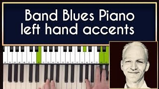 How to play blues piano in a band. Guide from professional musician.