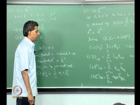 Mod-11 Lec-39 Inner Product Spaces