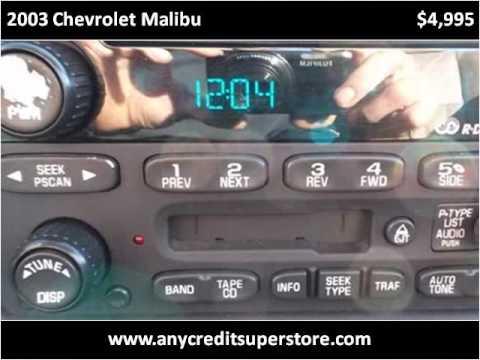 2003 Chevrolet Malibu Used Cars Fort Wayne good credit bad c