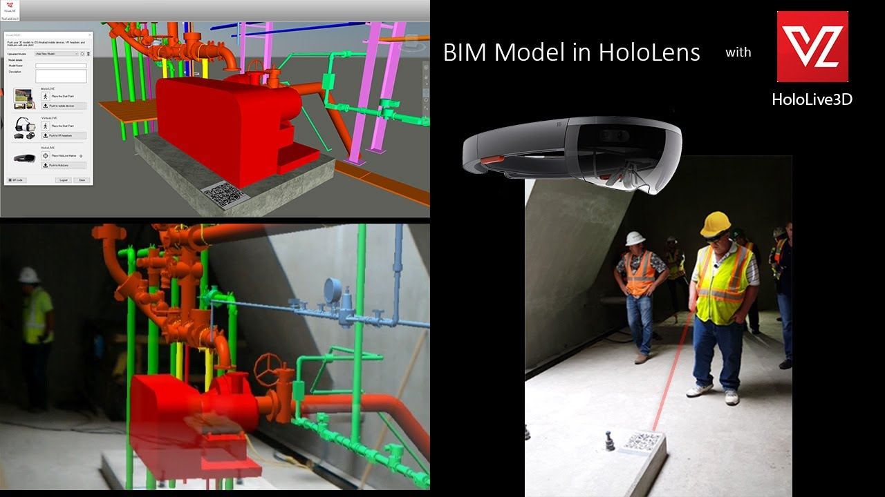 Mechanical Room in HoloLens - HoloLive app