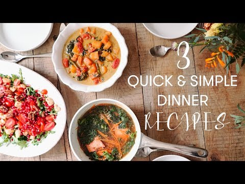 3 Quick & Simple Dinner Recipes | Madeleine Shaw