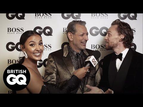 Tom Hiddleston's impression of Jeff Goldblum is uncanny | GQ Awards 2018 | British GQ