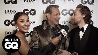 Tom Hiddleston's impression of Jeff Goldblum is uncanny   GQ Awards 2018   British GQ