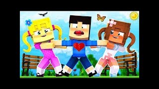 Mango Tango Minecraft Kindergarten - 2 CRAZY GIRLS FIGHT FOR MY LOVE!