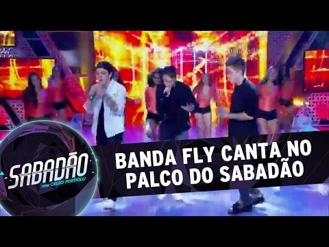 Sabadão com Celso Portiolli (19/03/16) - Banda Fly canta no palco do Sabadão