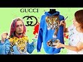 Challenging Gucci Tiger Jacket - painting on clothes