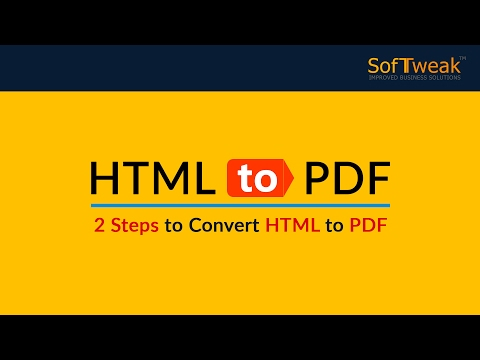SoftTweak HTML To PDF - HTML Files To Adobe PDF Converter With Attachments & Other Formatting