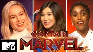 Captain Marvel Cast Play Would You Rather? 90s Edition | MTV Movies