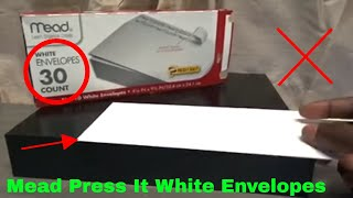 ✅  How To Use Mead Press It White Envelopes Review