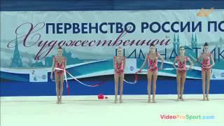Первенство России 2016 по художественной гимнастике в групповых упражнениях - Сборная МГФСО 5 лент