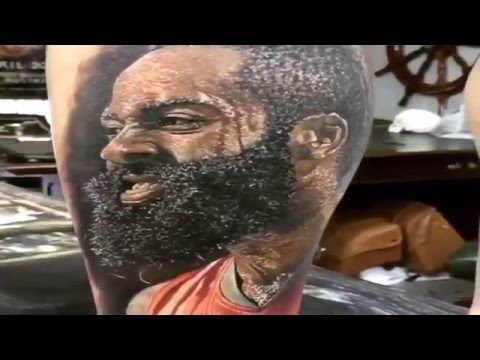 Fan gets a detailed tattoo of james harden and i must for James harden tattoo