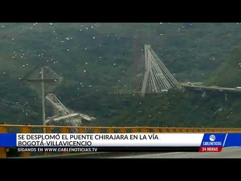 Colapsó puente Chirajara, en la vía Bogotá-Villavicencio