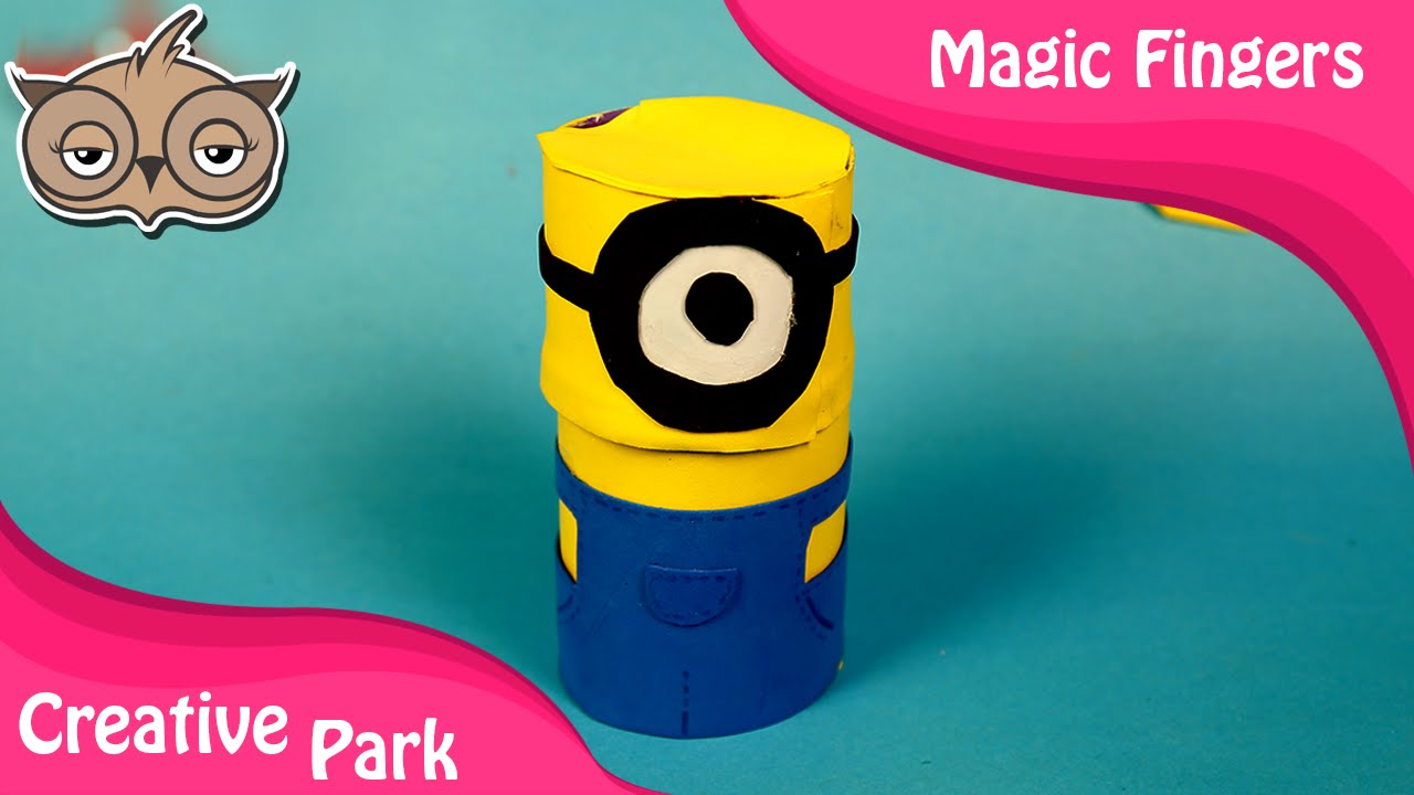 Diy crafts how to make a minion with paper and fomic for Fomic sheet decoration youtube