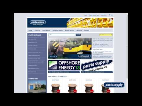 Parts Supply Worldwide BV -  Instruction online crane parts and crane spares product catalogue