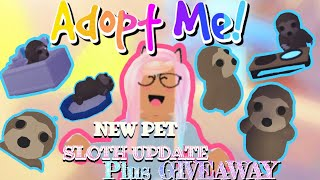 ROBLOX Adopt Me New Sloth And Ride Potion 1.2K Subscriber Giveaway #roblox #adoptme CLOSED