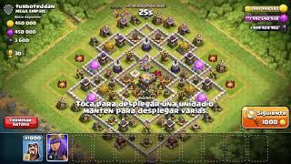 ¡¡ATACANDO CON 1,000 MAGOS !! Clash of clans!!!!