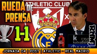Athletic 1-1 Real Madrid Rueda de prensa de LOPETEGUI (15/09/2018) | POST LIGA JORNADA 04