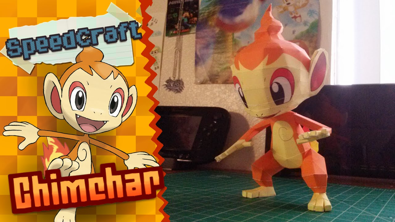 Papercraft Pokemon Papercraft ~ Chimchar ~