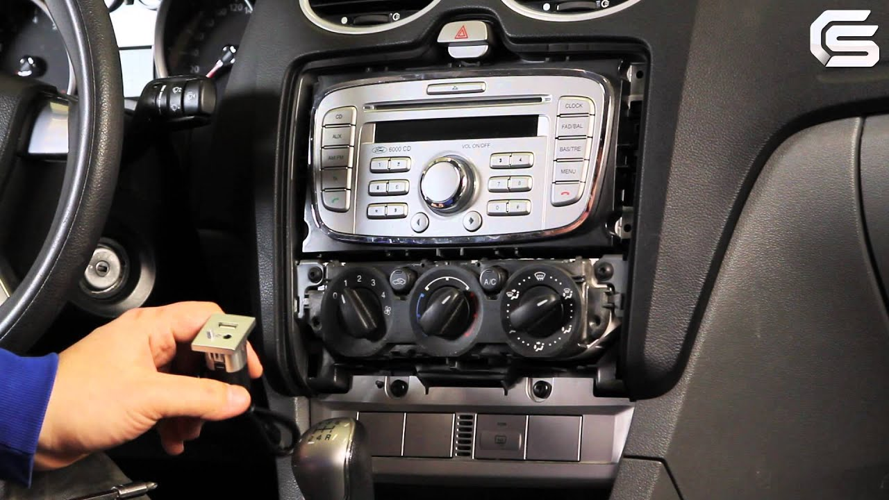 hight resolution of installation of 6000cd mp3 usb oem stereo for ford