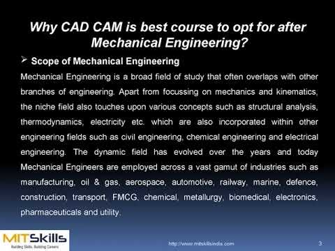 Why CAD CAM is best course to opt for after Mechanical Engineering. | MITSkills, Pune