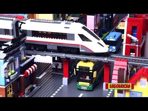 LEGO Bus Rescue Story with Passenger Train 60154 | Brick film | LEGO stop motion | Legobricks