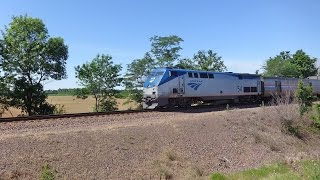HD Chase & Pace Of Amtrak 22 Texas Eagle Hoxie Sub Detour 5/30/16