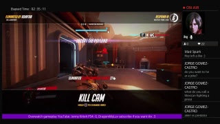 Playing Overwatch with friends :D