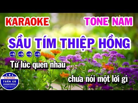 Karaoke Sầu Tím Thiệp Hồng | Nhạc Sống Tone Nam Rê Thứ | Karaoke Tuấn Cò
