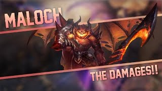 Strike of Kings: THE DAMAGES!! Maloch [PA/TANK] Gameplay