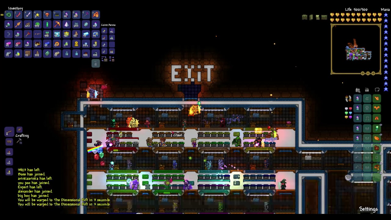 Terraria Dark Gaming v5 server-ALL THE ITEMS IN THE GAME!!!