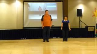 He Ain't Gonna Change Line Dance Demo by Mark Cosenza @ WCLDM 2015