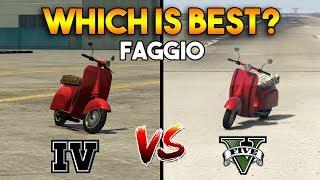 GTA 5 FAGGIO VS GTA 4 FAGGIO : WHICH IS BEST?