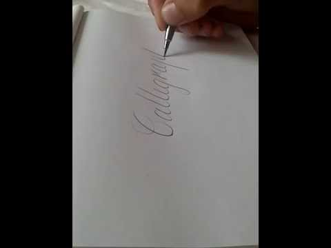 Free hand calligraphy practice script copperplate calligraphy