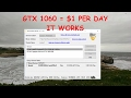 NICEHASH! GPU MINING! GTX 1060 = $1 PER DAY