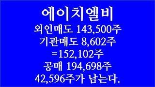 [주식투자]에이치엘비(외인매도 143,500주,기관매도…