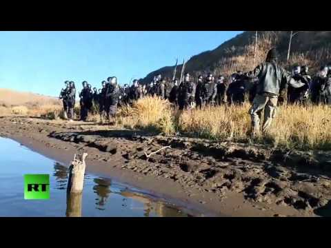 RAW: Dakota Access Pipeline protesters maced during standoff with authorities