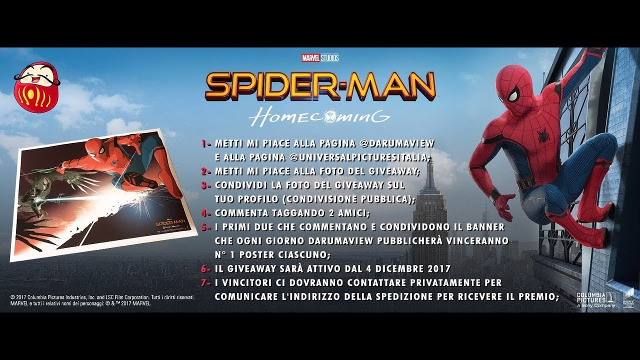 giveaway - spider-man homecoming ..ing soon - youtube