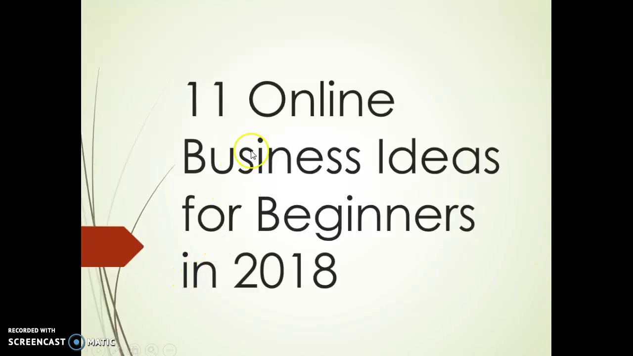 Online Business Ideas For Beginners In
