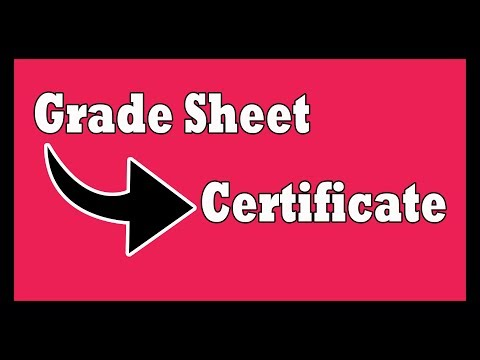 Automated Certificate | Grade Sheet Linked To Certificate Template