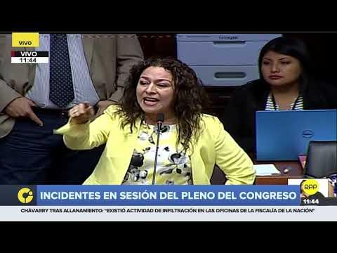 """Cecilia Chacón a Daniel Salaverry: """"Nunca se olvide que usted representa a Fuerza Popular"""""""