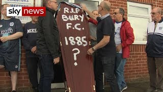 Bury Football Club on the brink of extinction