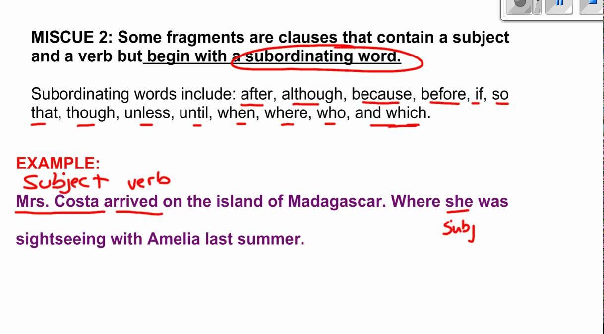 medium resolution of Sentence Fragments (video lessons
