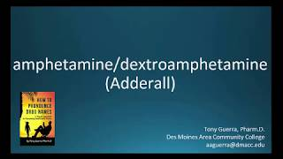 (CC) How to Pronounce amphetamine/dextroamphetamine (Adderall) Backbuilding Pharmacology