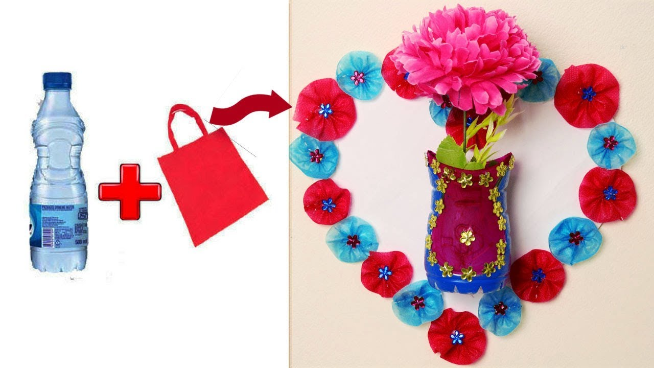 Plastic Bottle Wall Hanging Flower Vase